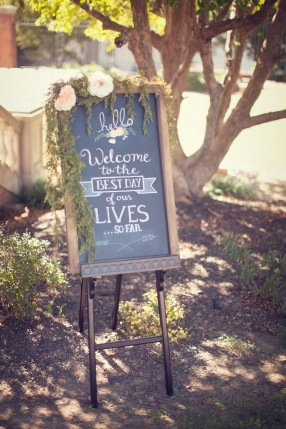 Custom Chalkboard Design For The Mullins' Wedding