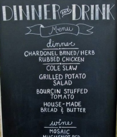 Menu Board - Chalked by Katie