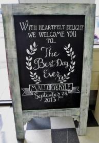 Easel Chalkboard $35